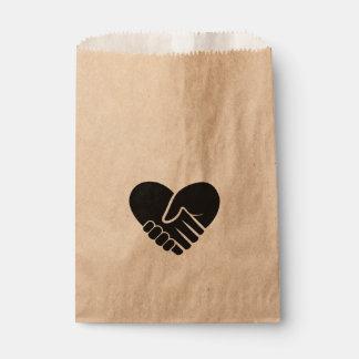 Love Connected black heart Favour Bag