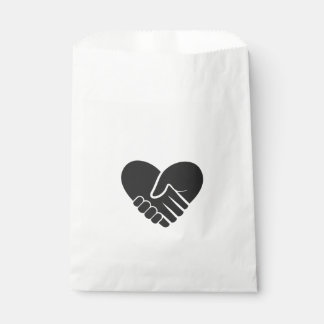 Love Connected black heart Favour Bags