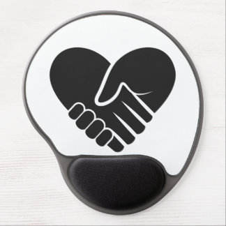 Love Connected black heart Gel Mouse Pad