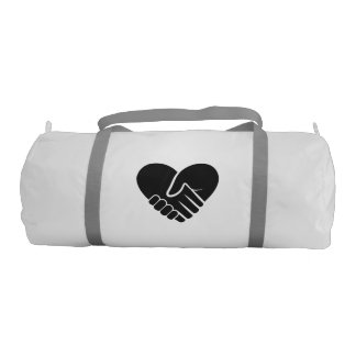 Love Connected black heart Gym Bag