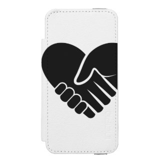 Love Connected black heart Incipio Watson™ iPhone 5 Wallet Case