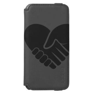 Love Connected black heart Incipio Watson™ iPhone 6 Wallet Case