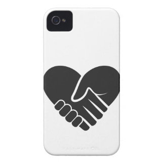 Love Connected black heart iPhone 4 Case-Mate Cases