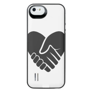 Love Connected black heart iPhone SE/5/5s Battery Case