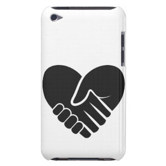 Love Connected black heart iPod Touch Cover