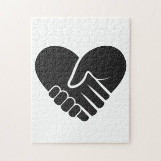 Love Connected black heart Jigsaw Puzzle