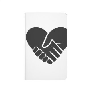 Love Connected black heart Journal