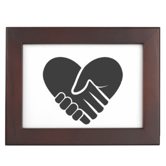 Love Connected black heart Memory Boxes