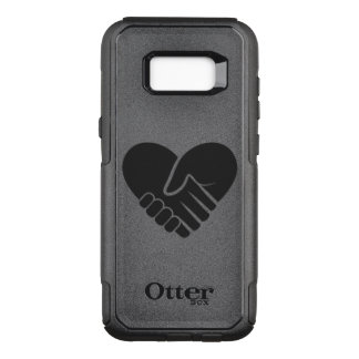 Love Connected black heart OtterBox Commuter Samsung Galaxy S8+ Case