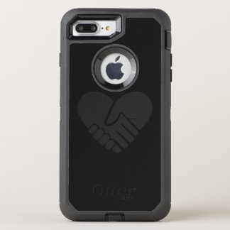 Love Connected black heart OtterBox Defender iPhone 8 Plus/7 Plus Case