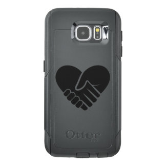 Love Connected black heart OtterBox Samsung Galaxy S6 Case