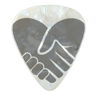 Love Connected black heart Pearl Celluloid Guitar Pick