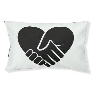 Love Connected black heart Pet Bed