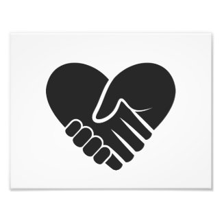 Love Connected black heart Photo Print