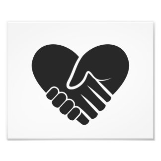 Love Connected black heart Photographic Print