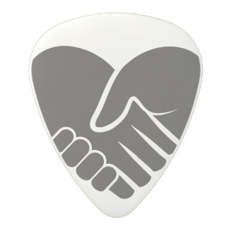 Love Connected black heart Polycarbonate Guitar Pick