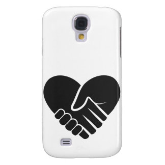 Love Connected black heart Samsung Galaxy S4 Cases