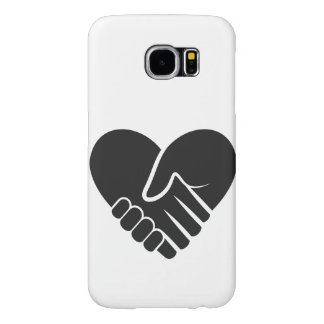 Love Connected black heart Samsung Galaxy S6 Cases