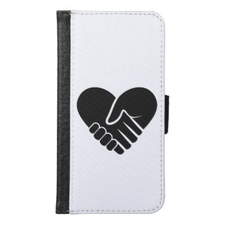 Love Connected black heart Samsung Galaxy S6 Wallet Case