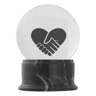Love Connected black heart Snow Globe