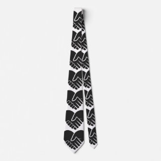 Love Connected black heart Tie
