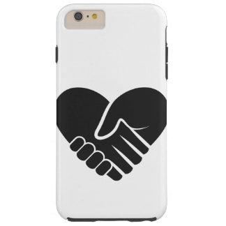 Love Connected black heart Tough iPhone 6 Plus Case