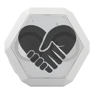 Love Connected black heart White Bluetooth Speaker