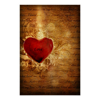 Love Conquers All (Heart Art Poster) Poster