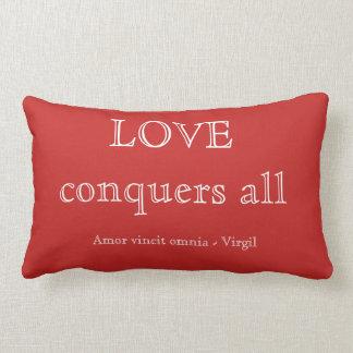 Love conquers all lumbar cushion