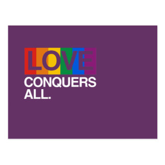 LOVE CONQUERS ALL -.png Postcard
