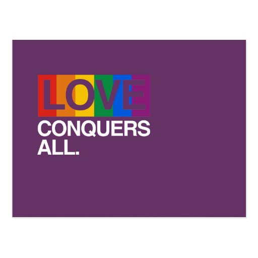 LOVE CONQUERS ALL -.png Post Card