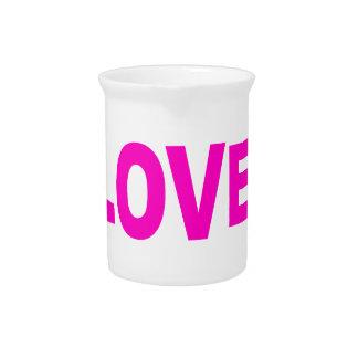 love cool circle design pitcher