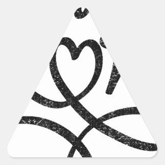 love cool design triangle sticker