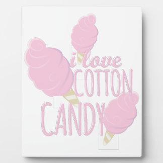 Love Cotton Candy Photo Plaque