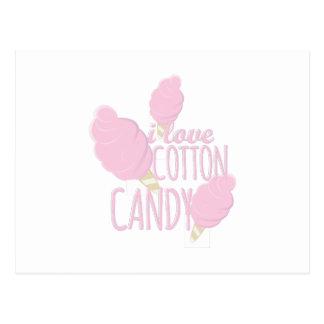 Love Cotton Candy Postcard