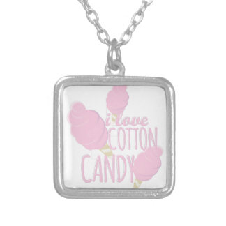 Love Cotton Candy Silver Plated Necklace