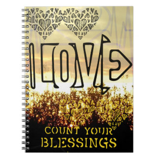 Love count your blessings spiral notebook