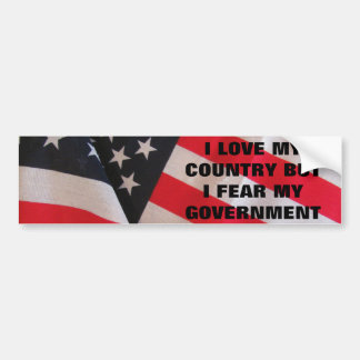 Love Country Fear Government Classic Bumper Sticker