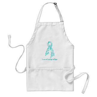 Love Courage Hope Butterfly - Ovarian Cancer Standard Apron