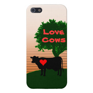 Love Cows- Cow Silhouette with Lone Tree Case For iPhone 5