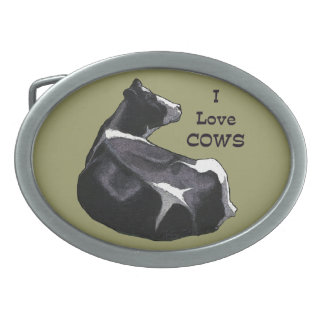 Love Cows: Holstein Dairy Cow Illustration: Farm Belt Buckles