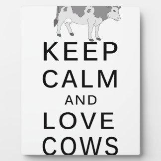 love cows plaque