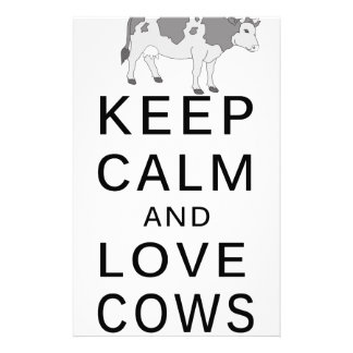 love cows stationery