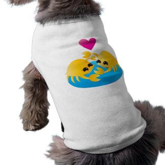 Love Crabs Sleeveless Dog Shirt