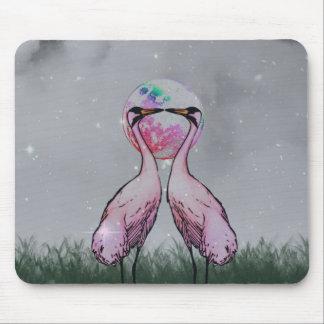 Love Cranes Mouse Pad