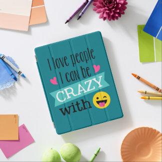Love Crazy People Emoji iPad Cover