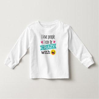 Love Crazy People Emoji Toddler T-Shirt