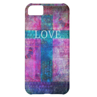 LOVE CROSS WITH BUTTERFLIES iPhone 5C CASE