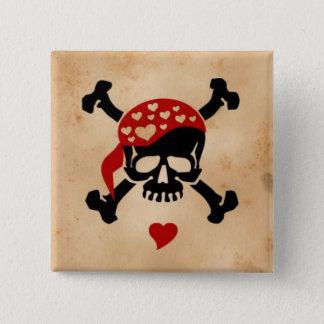 Love & Crossbones 15 Cm Square Badge