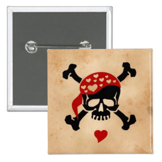 Love & Crossbones 15 Cm Square Badge